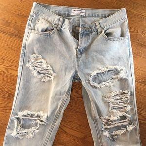 One Teaspoon Distressed Jeans